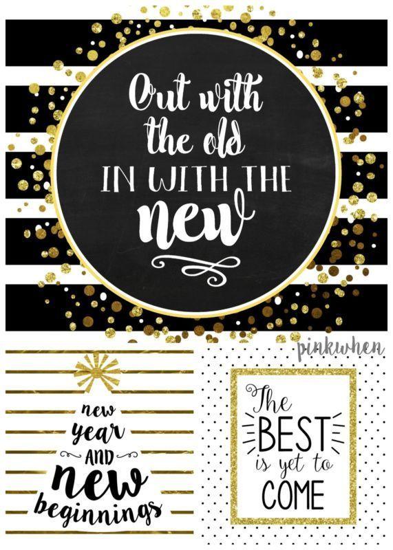 3 New Years Free Printables | eBay