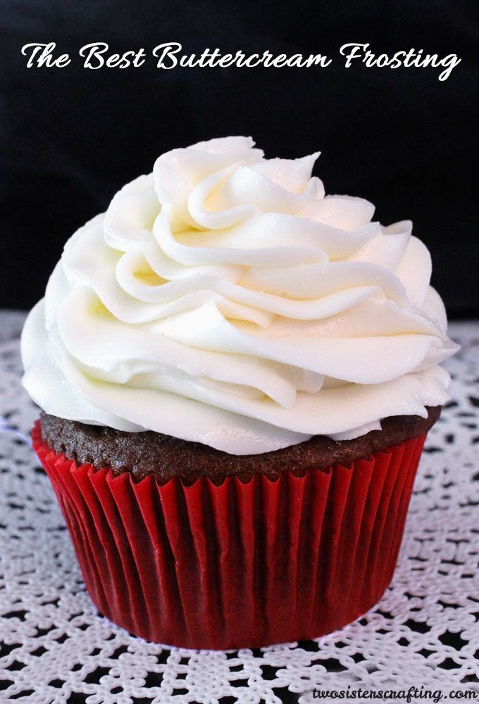 The Best Buttercream Frosting really lives up to it's name, it definitely is the best we've ever tried and so easy to make.  This Buttercream Frosting will make anything you put it on taste better - we promise!  For more great cupcake decorating ideas follow us on Pinterest.