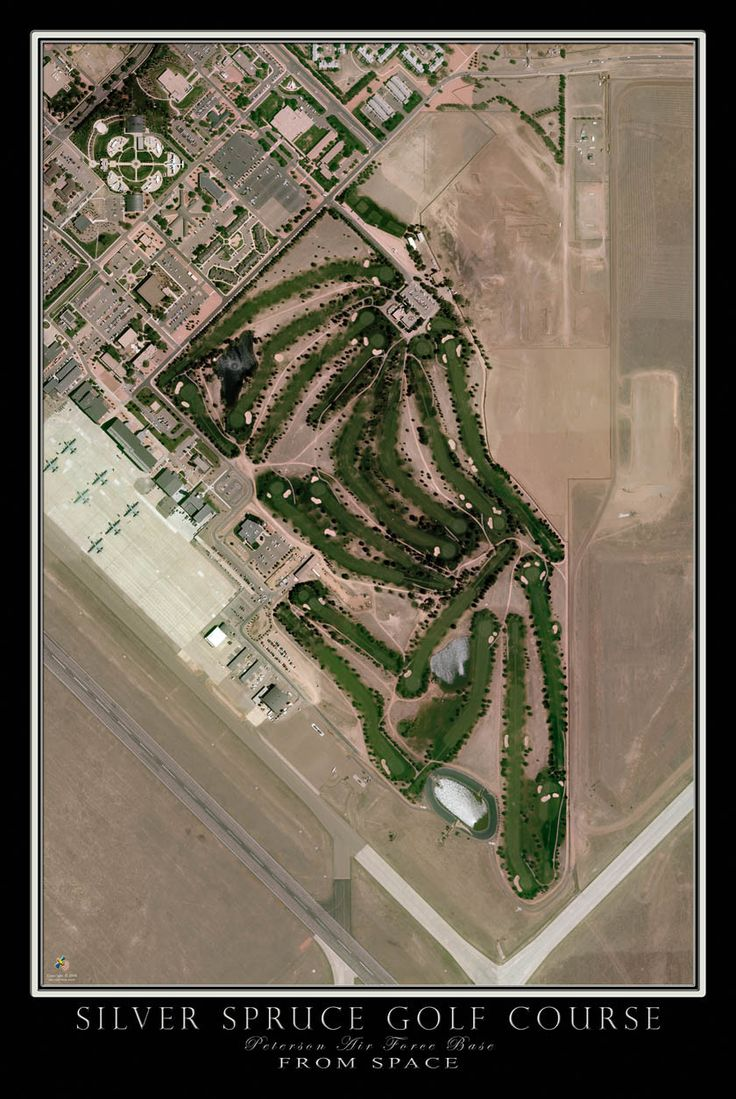 Silver Spruce Golf Course Colorado Springs Satellite