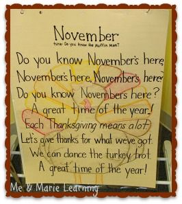 November is here and it is time to share our November Songs! You will also find a freebie!
