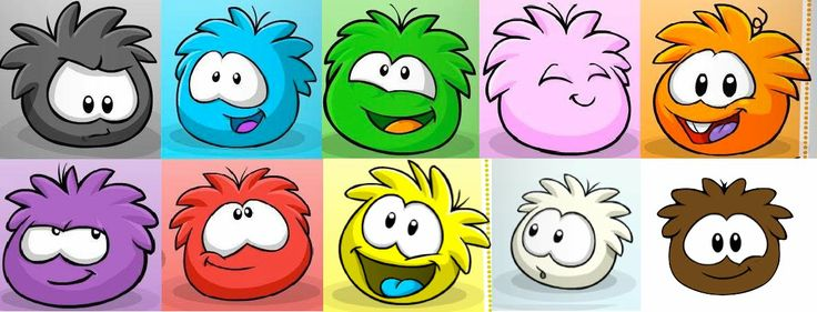 puffles | Big G wanted to be a red puffle, so I got some fun fur and some red ...