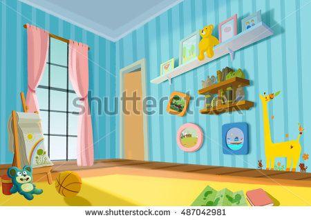 Illustration for Children: Sweet Child Room. Video Game's Digital CG Artwork, Concept Illustration, Realistic Cartoon Style Background