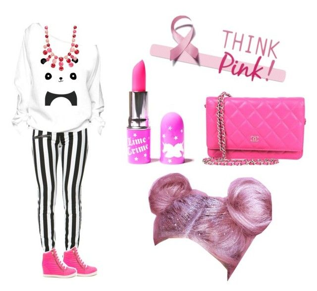 """""""Pandas in Pink"""" by lovebug32977 ❤ liked on Polyvore featuring Kate Spade and Lime Crime"""