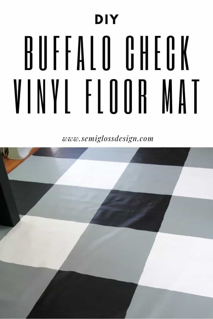 Buffalo Check Painted Vinyl Floor Cloth