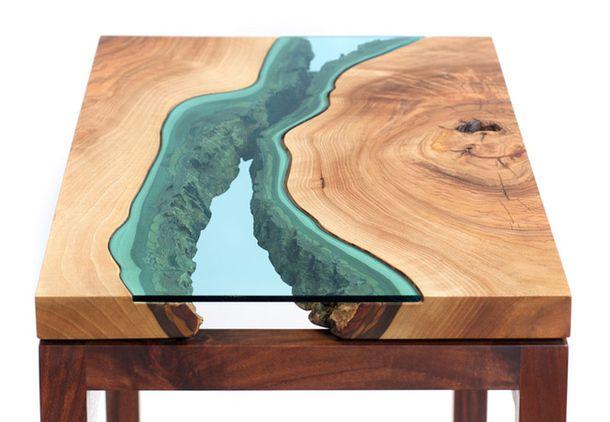 Дизайнерский стол, дерево, дерево в интерьере, массив, изделия из дерева, изделия из массива, Бигвуд