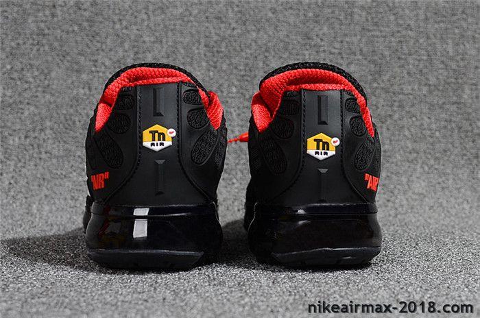 Hot Nike Air VaporMax TN KPU Mens Sneaker Black Red For Sale