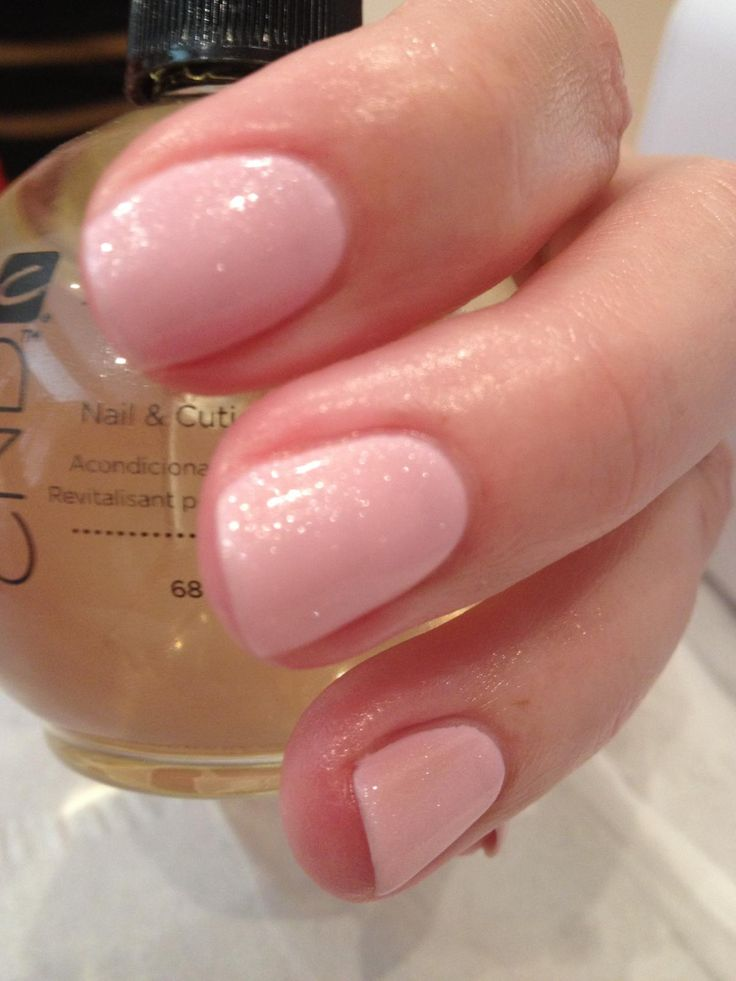 CND Shellac Cake pop layered with grapefruit sparkle-- love it