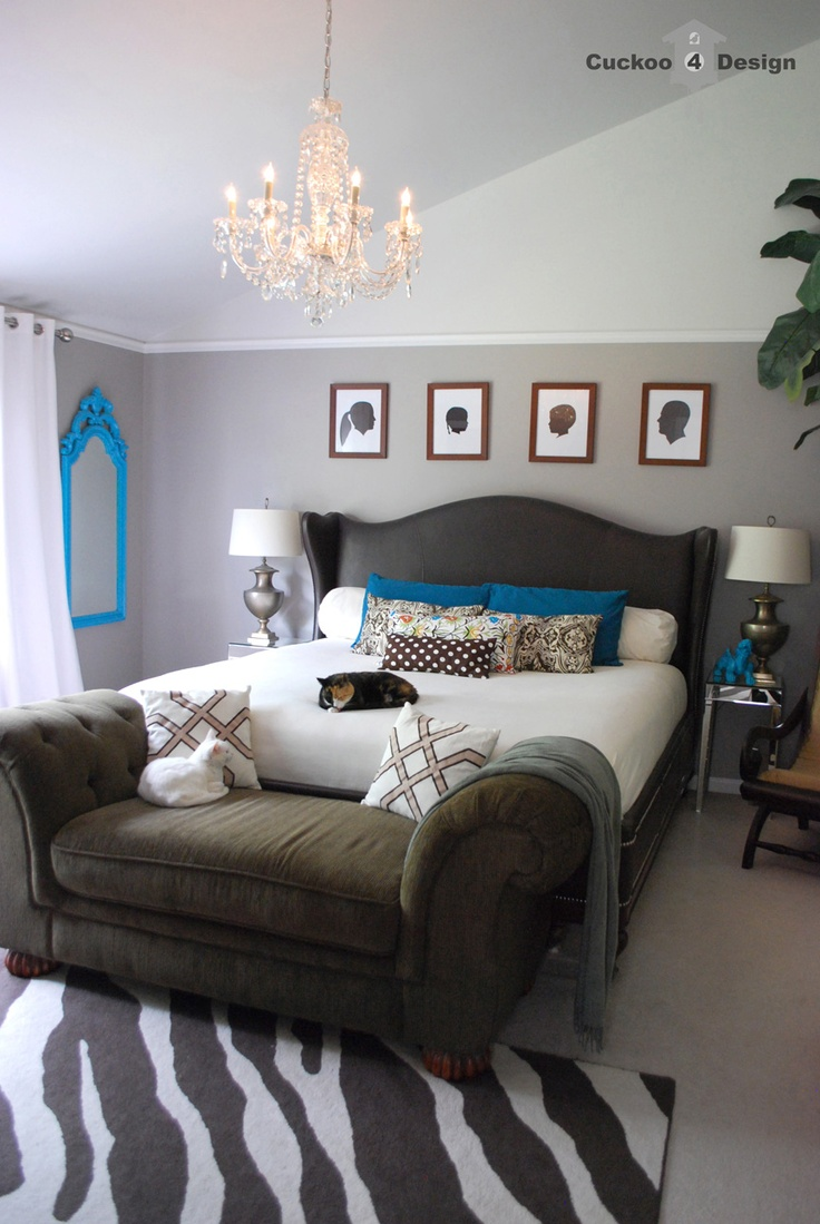 Grey and turquoise bedroom - Download