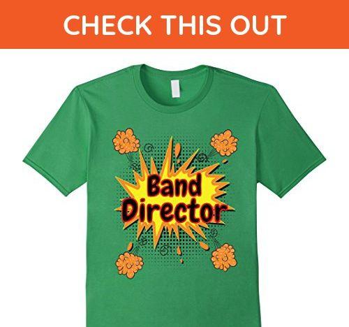 Mens Band Director Teacher Comic Clouds Cool Teacher Gift T-Shirt 3XL Grass - Careers professions shirts (*Amazon Partner-Link)