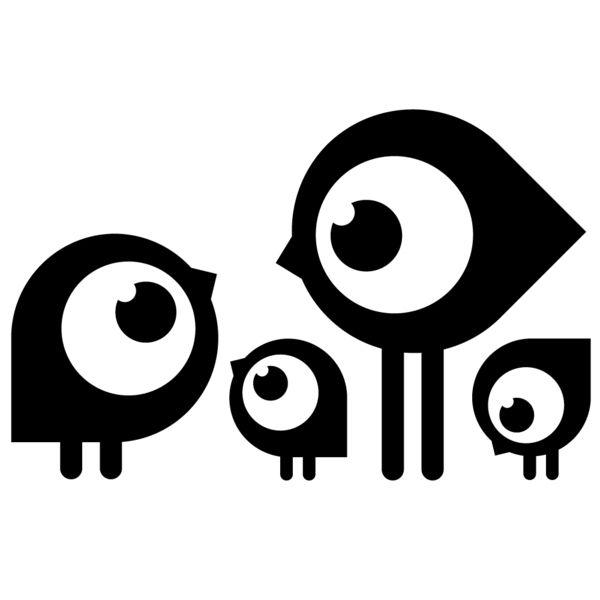 Interieursticker Kuiken familie - Plaksels - Muurstickers - Muurdecoraties - DaWanda
