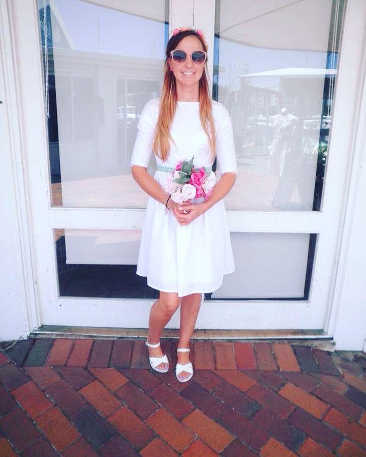 Vintage White Bridal Dress by Lauren Ellen