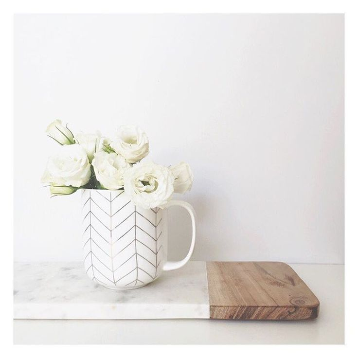 """The Bargain Diaries on Instagram: """"What do you do with a pretty mug when you don't drink tea or coffee... Style it as a vase! How sweet is this $3 mug from @kmartaus... It's super big as well, so it would be perfect for those hot chocolates in winter . Also pictured is the $15 marble and wood long board. #kmartaus #kmart #kmartstyling #thebargaindiaries"""""""