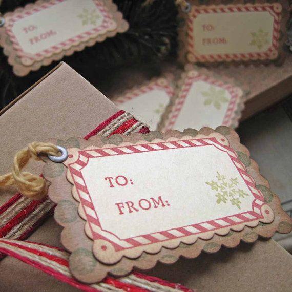 Christmas Gift TagsCandy Cane by SunshineandRavioli2 on Etsy, $5.75