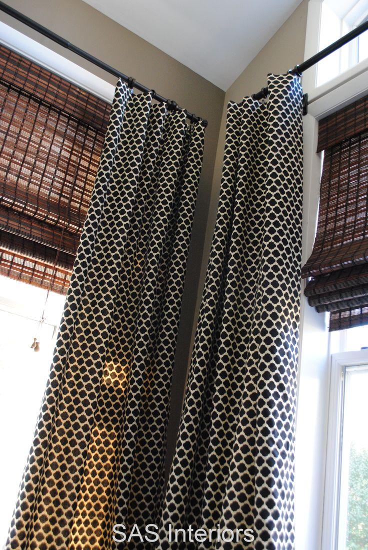 13 best corner curtain rod images on pinterest corner curtain rod corner curtains and window. Black Bedroom Furniture Sets. Home Design Ideas
