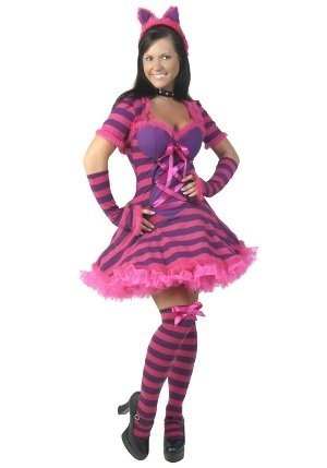 this sexy striped wonderland cat costume is a unique alice in wonderland costume idea for women get this sexy striped wonderland cat costume as a sexy - Cat Costume Ideas Halloween