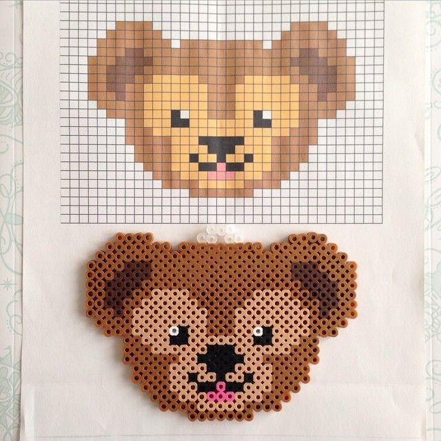 Duffy the Disney Bear perler beads by kumaringo8