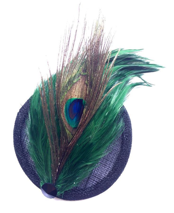 A personal favourite from my Etsy shop https://www.etsy.com/au/listing/250738886/peacock-feather-fascinator-with