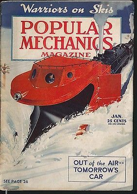 POPULAR MECHANICS Windmills for electric power Flying Wing Northrop ++ 1 1942