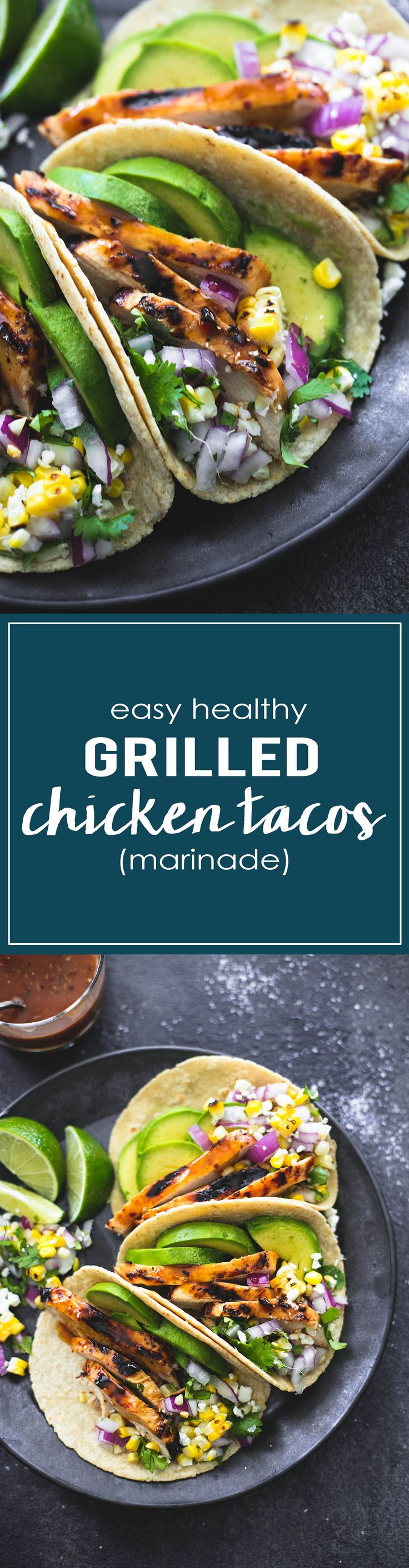 The BEST EVER Marinade for Grilled Chicken Tacos | lecremedelacrumb.com
