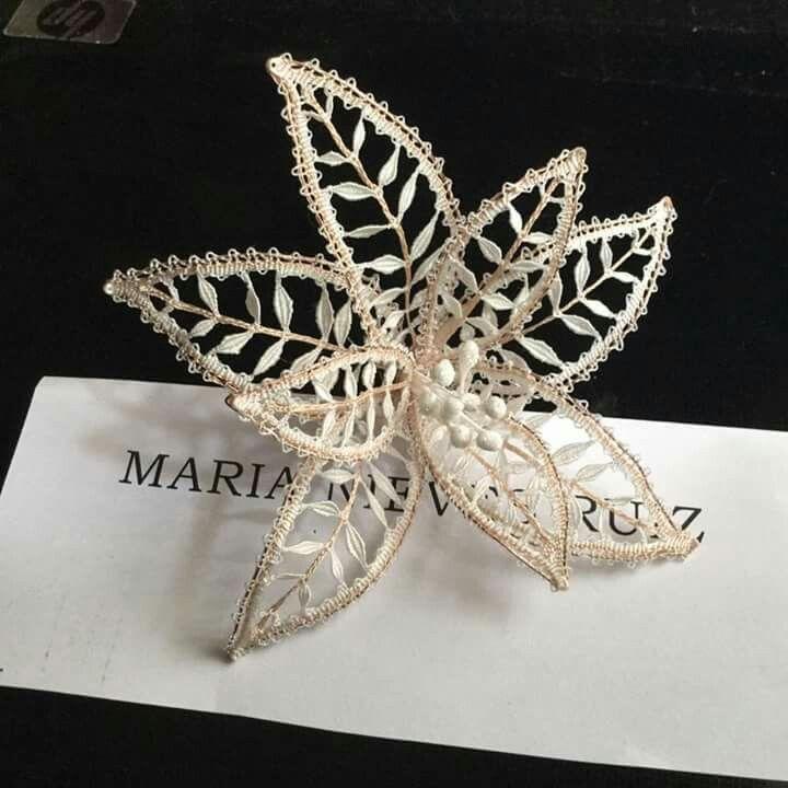 handmade lace flower                                                       …