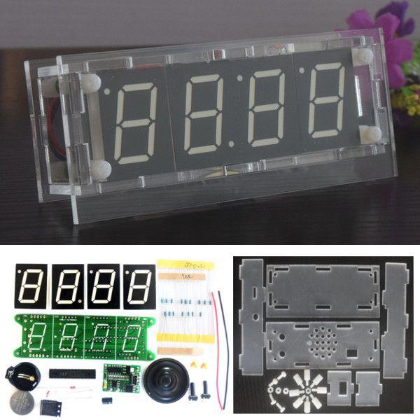 DS3231 Voice Timing Music Control de luz DIY Alarma digital electrónica Reloj Kit con función de cronómetro de cuenta atrás de temperatura