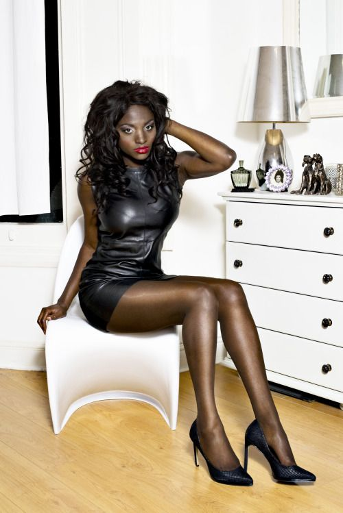 The Black Lily House  Ebony Fetish  Leather Dresses -6595