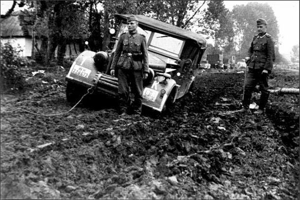 Russian roads WW2. In Russia there are no roads at all.
