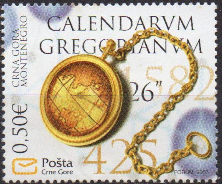 montenegro - 425º aniversário do calendário gregoriano- 2007