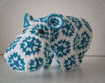 Crochet hippopotamus made out of Granny Squares - Grannies - Happypotamus
