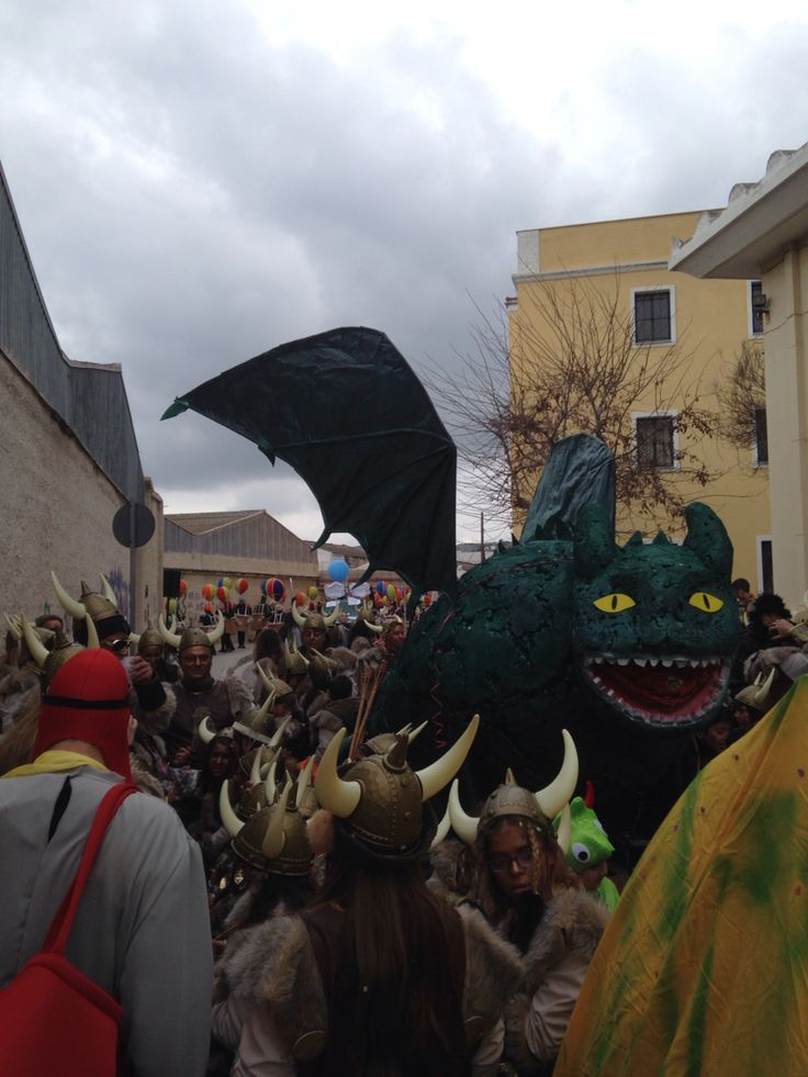 Little dragons from Syros carnival (Greece)