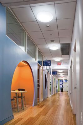 I love the idea of special spaces in the halls for tutoring.