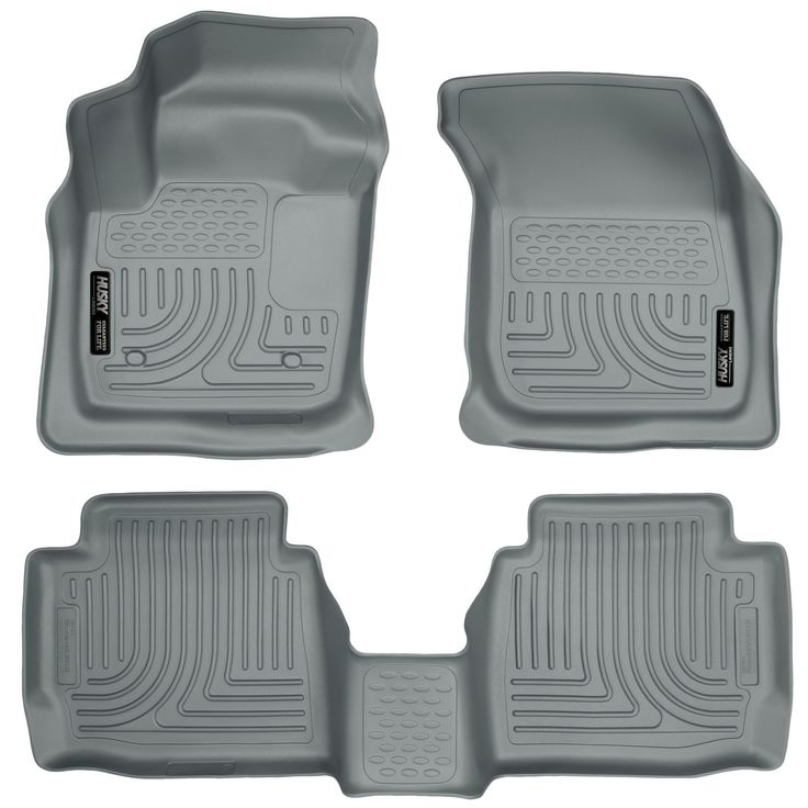 Husky Weatherbeater 2013-2016 Ford Fusion S/SE/SE Hybrid Grey Front & Rear Floor Mats/Liners
