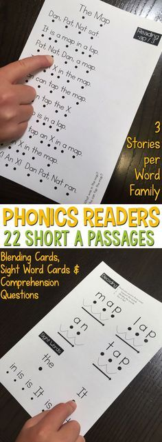 Phonics Readers for the Short A Word Family are perfect for students who are learning to read with phonics patterns. They are highly controlled passages that only contain words within that word family or within a previously taught word family. Includes 22
