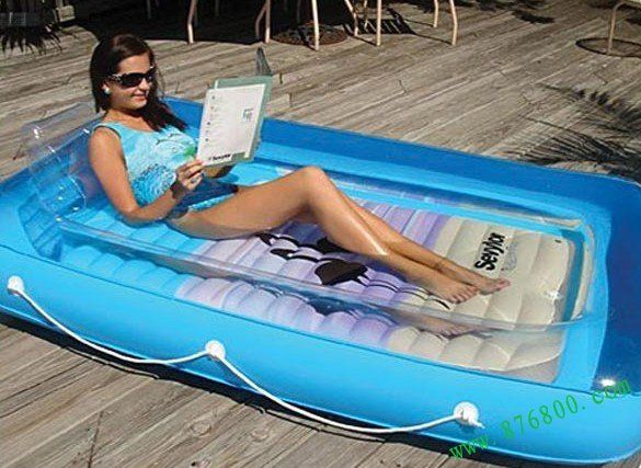 Maybe I just need this to get pools off my mind - its the adults version of a kiddie pool. I could totally put this on my patio!
