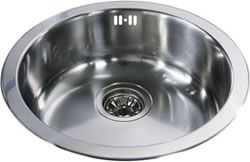 CDA - Stainless Steel Single Round Bowl Sink - DIY Kitchens