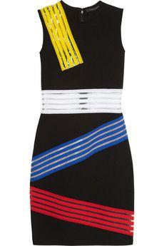Christopher Kane Elastic-paneled stretch-jersey dress   NET-A-PORTER