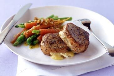 """""""These delicious and easy-to-prepare pork fillets have a cheesy surprise."""""""