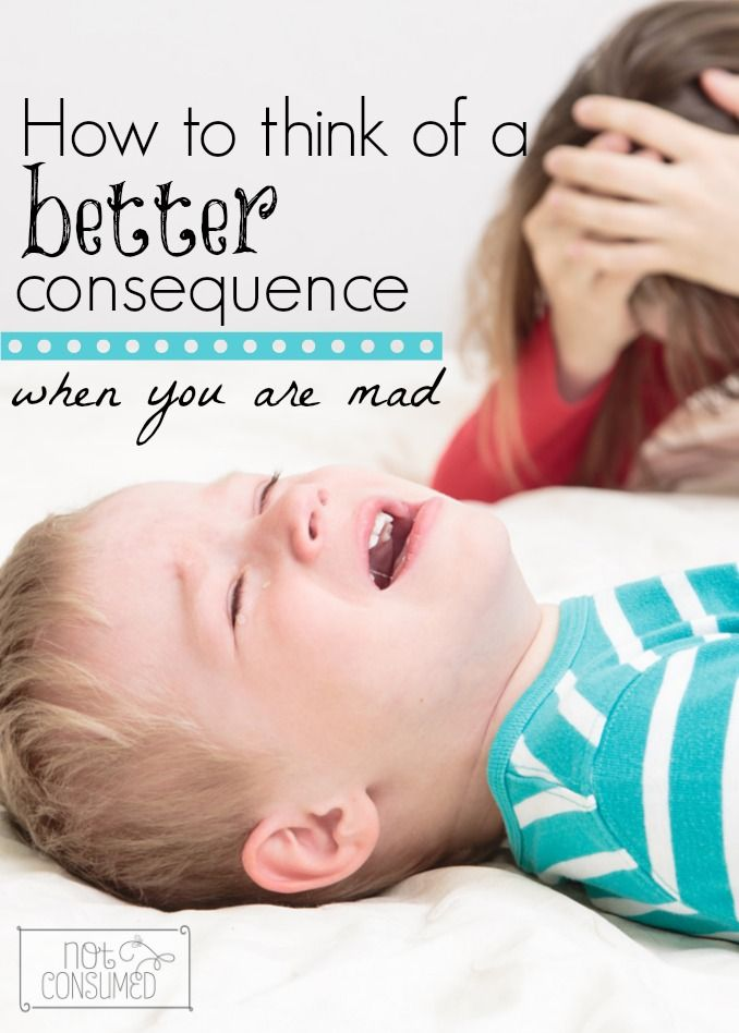 What do you do when your kids turn up the heat and your blood starts boiling? There's a way to think of a better consequence when you are mad!