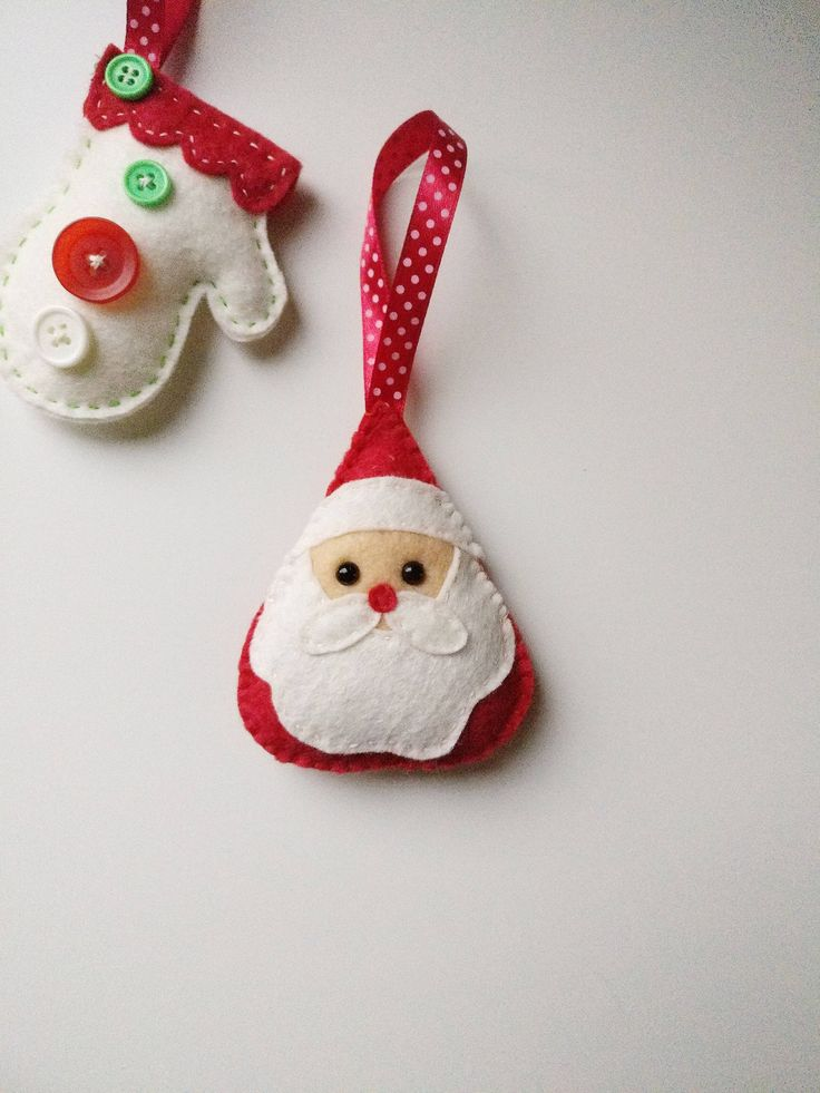 Christmas ornament, Santa Claus, Christmas decoration ,felt ornament, plush Santa bag charm, toy, tree ornament, mini plush by ElascreationsStudio on Etsy https://www.etsy.com/listing/556523241/christmas-ornament-santa-claus-christmas