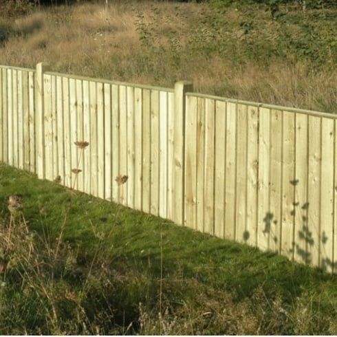 Feather Edge Fence Panel - 4ft x 6ft Green Tana