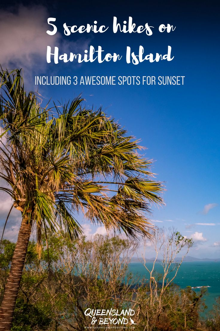 Queensland's Hamilton Island in the Whitsundays isn't just made for exploring the Great Barrier Reef. Here are five fabulously scenic hikes to explore Hamilton Island, Australia, on foot. Plus three awesome spots of sunsets!