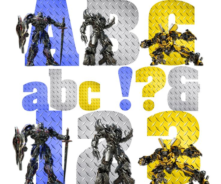 Transformers Alphabet & Numbers