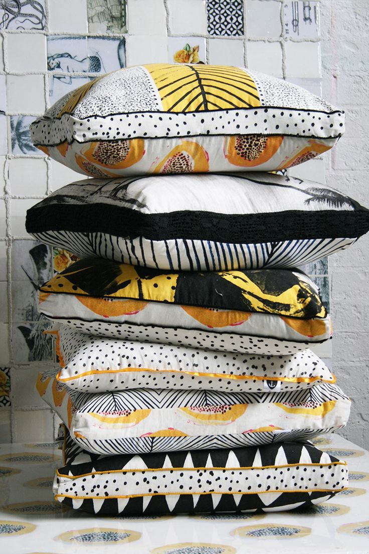 Queensland Homes Blog » QH Loves: Jai Vasicek » Queensland Homes Blog | We adore these bright, fruit-inspired pillows from Jai Vasicek. Too chic!