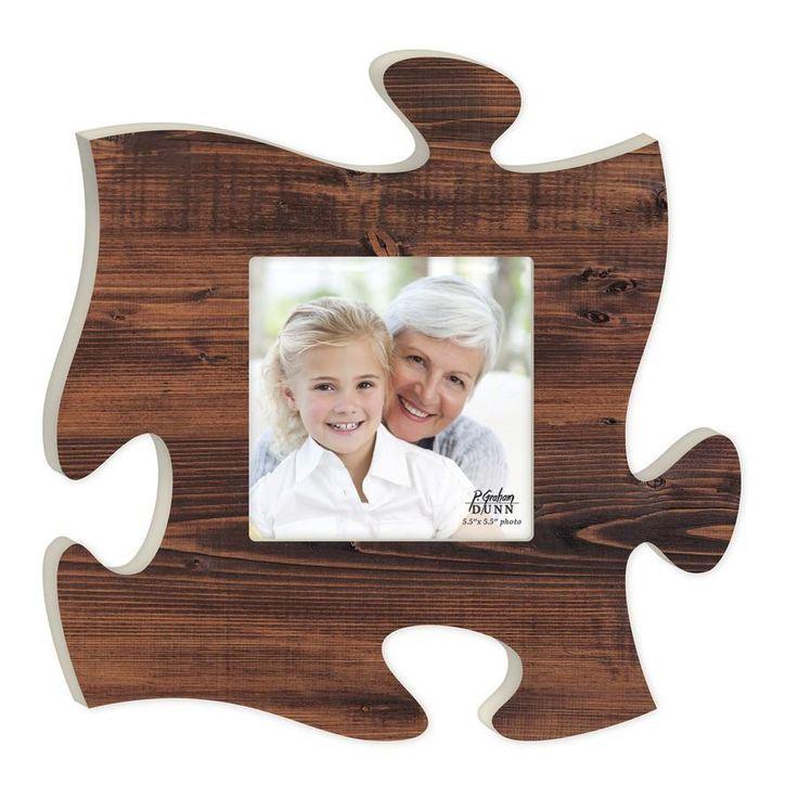 Puzzle Photo Frame Walnut Puzzle piece picture frames