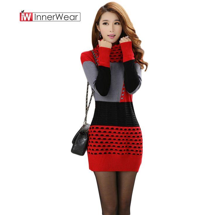 Woman Winter Dress Knitted Dress Turtleneck Long Sleeve Sweater Dress Plus Size Clothing  #buy  #Woman #Winter #Dress #Knitted #Dress #Turtleneck #Long #Sleeve #Sweater #Dress #PlusSize #Clothing #onlineshopping