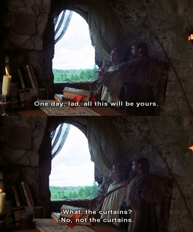 Monty Python and the Holy Grail. I've probably pinned this before but thats ok its worth it