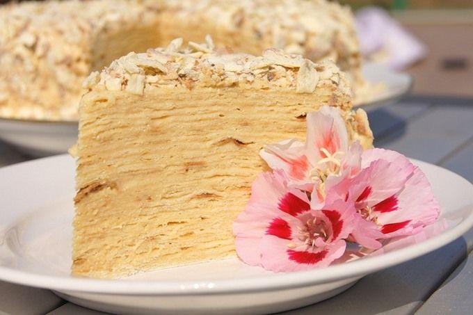 Торт Наполеон. Рецепт приготовления торта Наполеон. Готовим сами вкусный классический торт Наполеон. Домашний торт Наполеон по классическому рецепту.