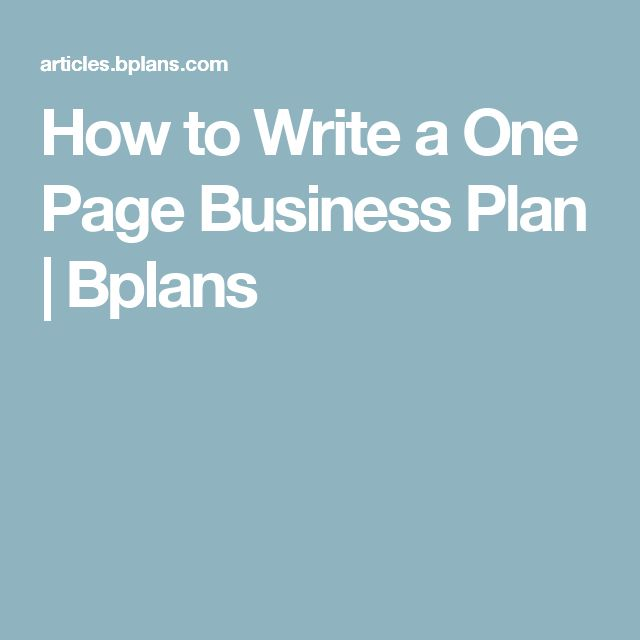 25 unique one page business plan ideas on pinterest simple
