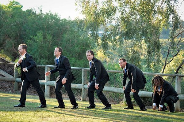 Some very goofy photos of the groomsmen. 42 Impossibly Fun Wedding Photo Ideas You'll Want To Steal