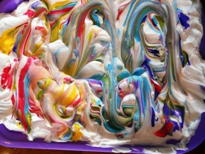 I found this awesome project over at Little Wonders' Days !!!!  I  can't believe we have never tried shaving cream painting!  This was s...